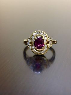 Ruby Wedding Rings, Art Deco Wedding Rings, Diamond Rings, Diamond Engagement Rings, Ruby Rings, Art Nouveau, Gold And Silver Rings, Ring Set, Bridal Jewelry Sets