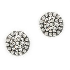 Stephan and Co. Juniors Fireball Button Earrings #VonMaur #StephanandCo #Crystal #ButtonEarrings #StudEarrings #Silver