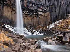 Svartifoss (Black Fall), Skaftafell National Park, Iceland // photo by Giacomo Ciangottini