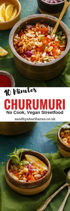 Churumuri recipe is an instant healthy Street food prepared by mixing chopped vegetables with puffed rice, tossed with spices and served immediately.