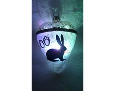 Hey, I found this really awesome Etsy listing at https://www.etsy.com/uk/listing/593917765/glass-heart-baublerabbit-lover-giftpet