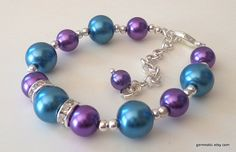 Teal and purple bridesmaid jewelry set, peacock wedding jewelry, bridesmaid gift set,wedding jewelry on Etsy, $18.47