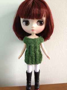 Handmade Middie Blythe Doll Mini Dress by ChassyKnitLove on Etsy, $12.00
