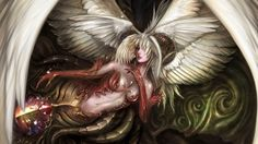 Download wallpaper lineage 2: goddess of destruction, game wallpapers, fantasy, wings, games resolution 1366x768