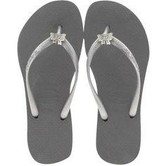 777640017a807c Havaianas - Women s Slim Crystal Bow Flip Flops - Grey Silver