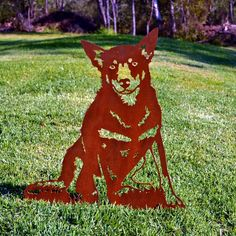 Metalscape - Life Size Metal Art We all love our pets like they were our children. Iron Art, Scroll Saw, Working Dogs, Animal Design, Metal Art, Garden Art, Creative Art, Metal Working, Crafty