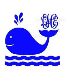 Hey, I found this really awesome Etsy listing at https://www.etsy.com/listing/182130293/whale-personalized-monogram-one-color