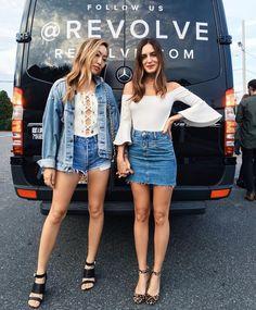 Τζιν φούστα και έξωμο top  Ο τέλειος συνδυασμός για να δοκιμάσεις - JoyTV e0f991f047b