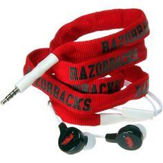 Arkansas Razorbacks Shoelace Earbuds