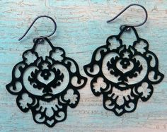 Moroccan Teardrop Sterling Silver Earrings by BelleBlakeDesigns, $16.00