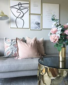 Home Decoration Design Ideas Product Blush And Grey Living Room, Grey And Gold Bedroom, Living Room Accents, White Bedroom, Pink Bedroom Design, Pink Bedroom Decor, Pink Bedrooms, Bedroom Ideas, Home Living Room