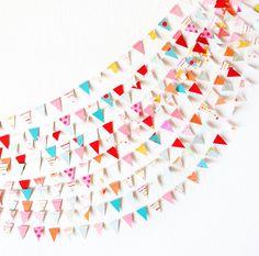 Circus Celebration 15' Wedding Paper GARLAND, Wedding Decoration, Home Decor, Birthday, Nursery, Baby Shower. $20.00, via Etsy.
