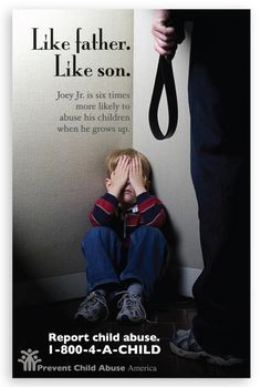 Justice 4 Children - Stop the abuse! Little Joey is six times more likely to abuse his children because of his abuse by his father.