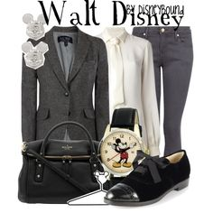 Walt Disney by leslieakay on Polyvore featuring Dsquared2, Armani Jeans, MANGO, Kate Spade, Disney and Forever 21