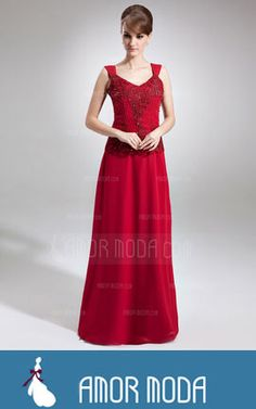 8677d97e02 A-Line Princess V-neck Floor-Length Chiffon Mother of the Bride Dress With  Lace Beading Sequins