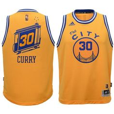 Youth adidas Stephen Curry Gold Golden State Warriors Swingman Basketball  climacool Jersey - Yth XL 1c761868d