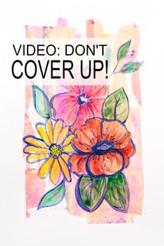 How not to cover up your background when you want to add a focal image but don't want to hide all your gorgeous work. Watch the simple video how to with Kim Dellow. Doodle Art Journals, Art Journal Pages, Drawing For Kids, Art For Kids, Watercolor Art Face, Shapes For Kids, Acrylic Painting Techniques, Inspirational Artwork, Art Uk