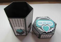 6-Eck-Box mit Anleitung in 2 verschiedenen Größen