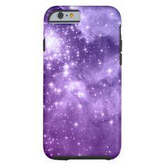 Purple Magic Stars iPhone 6 Case