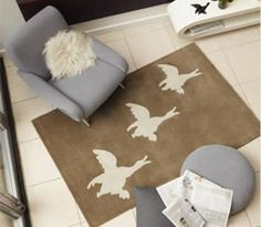 Flying ducks rug