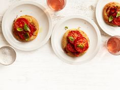Tomato-Basil Pizzettes from #FNMag