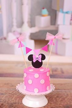 Minnie Mouse Cake Topper by SmashCaked on Etsy                              …