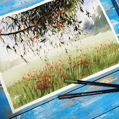 WEBSTA @ watercolor.illustrations -  Watercolorist: @kalachevaveronika#waterblog #акварель #aquarelle #painting #drawing #art #artist #artwork #painting #illustration #watercolor #aquarela