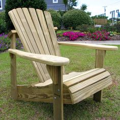 Have to have it. Weathercraft Designer's Choice Pine Adirondack Chair - Natural - $149.98 @hayneedle