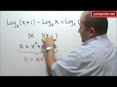 Ecuación que incluye logaritmos: Julio Rios explica cómo resolver una ecuación logarítmica.