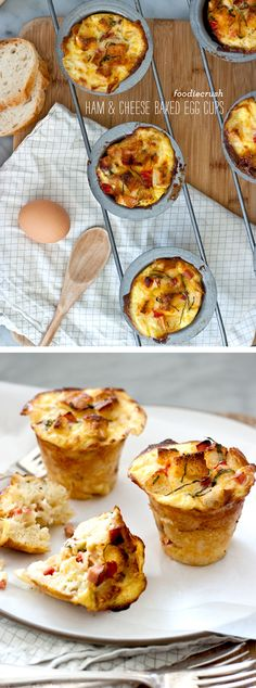 Prepare these Ham & Cheese Egg Cups the night before and then pop them into the oven before your morning shower and they'll be ready to eat on the go in just 20 minutes.