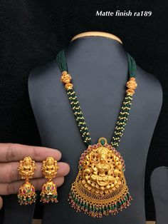 Temple jewellery available at Ankh Jewels for booking msg on Gold Jewellery Design, Bead Jewellery, Temple Jewellery, Beaded Jewelry, Fashion Jewellery, Pearl Jewelry, Jewelry Shop, Long Pearl Necklaces, Gold Necklace