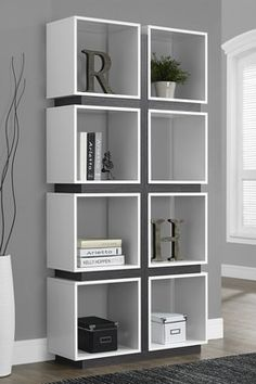 Eight Cube White/Grey Bookcase