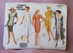1991 Uncut   Vogue's  Basic Design  Patterns by lovelylovepatterns, $6.00