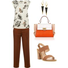 Untitled #16 by arleth-dantas on Polyvore featuring Oasis, MSGM, Salvatore Ferragamo and Lana