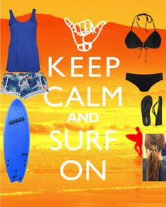"""Surfing"" by thatchick1998 ❤ liked on Polyvore"