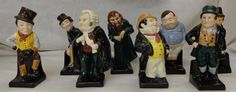 Lot 288 Royal Doulton Dickens M Series Figures Dick Swiveller M90, Bill Sikes M54, Sam Weller M48, Captain Cuttle M77, Baz Fuz M53, Fat Boy M44, Fagin M49 & Jingle M52 (8)  £150 - 250
