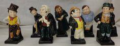 Lot 288 Royal Doulton Dickens M Series Figures Dick Swiveller M90, Bill Sikes M54, Sam Weller M48, Captain Cuttle M77, Baz Fuz M53, Fat Boy M44, Fagin M49 & Jingle M52 (8)  £150 - 250