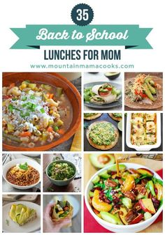 So many healthy lunch recipes and ideas! www.mountainmamacooks.com