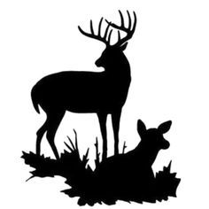 Buck and Doe Stencil Made from 4 Ply Mat by WoodburnsNewEngland