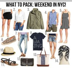 What to pack: weekend in the city!