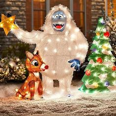 rudolph and friend what others are saying animated outdoor christmas decorations