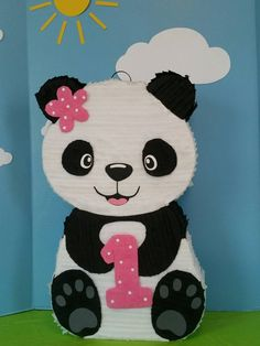 This 24 inch pinata is a great addition to your party! You can request colors to match your party theme. It will make an awesome decoration or centerpiece. Each pinata has a string to hang and a trap door at the back to fill with treats. Panda Birthday Party, Panda Party, Puppy Birthday, Bear Party, Baby Girl Birthday, Baby Birthday, Birthday Parties, Panda Decorations, Panda Love