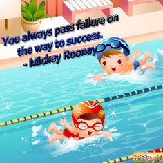 """""""You always pass failure on the way to success."""" - Mickey Rooney #quotes"""
