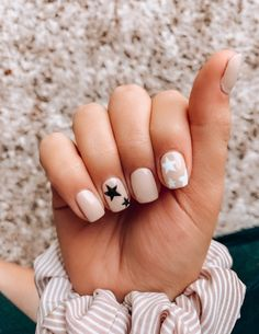 Semi-permanent varnish, false nails, patches: which manicure to choose? - My Nails Aycrlic Nails, Star Nails, Coffin Nails, Star Nail Art, Cute Gel Nails, Pink Gel Nails, Gel Manicures, Cute Pink Nails, Cheetah Nails