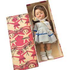 Vintage 1950s Vogue Ginny Hard Plastic Doll in Original Box from dollsandsmalls on Ruby Lane