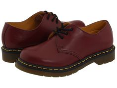Dr. Martens 1461 W Cherry Red - Zappos.com Free Shipping BOTH Ways