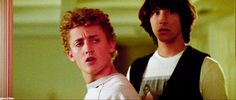 Bill and ted gif Two Movies, I Movie, Ted Gif, The Lost Boys 1987, Alex Winter, Keanu Reeves, Eyebrows, Husband, Memories