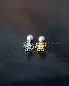 7228a793aeaf9 cartilage earring tragus earring cartilage piercing by JennySweety