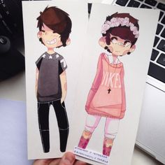 well this is freakin adorable. if anyone knows the artist please tell me :D<<<it's sarehkee on YouTube