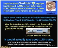 """#HillaryClinton says """"I'm proud of #WALMART and what we do"""" She's PROUD to pay American #Workers so low we are FORCED to go onto #FoodStamps? LISTEN to her SAY how PROUD she is of WALMART and what we do - LINK is here: https://youtu.be/JoCPRSrScG8   -  Bernie Sanders will #RaiseWages and #Fightfor15. Bernie doesn't think we're LAZY - Bernie thinks the BILLIONAIRES are GREEDY!"""